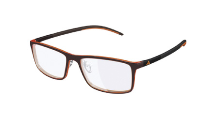 Adidas Model: A 692 ADIDAS LITE FIT, Colour Code: 6064, Frame Colour: DARK CHILLI MAGHOGANY