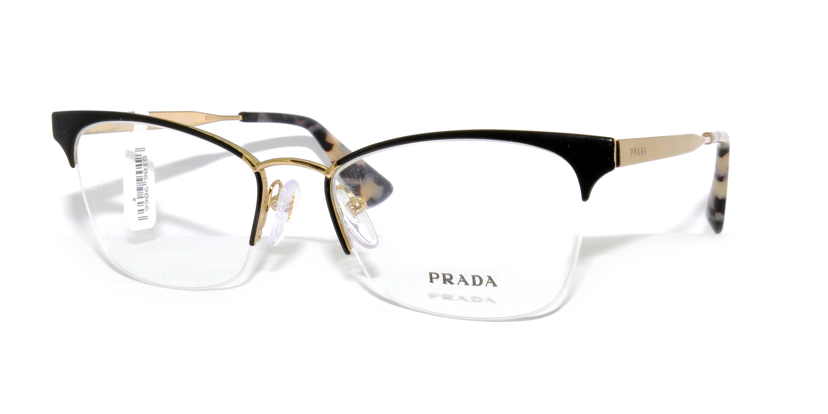 prada pink glasses, black prada bag
