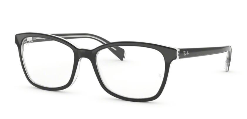 Ray-Ban Model: RB 5362, Colour Code: 2034, Frame Colour: Top black on transparent