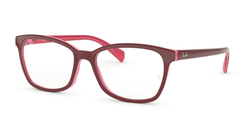 Ray-Ban Model: RB 5362, Colour Code: 5777, Frame Colour: Top fuxia on transparent