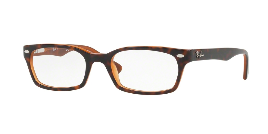 Ray-Ban Model: RX 5150, Colour Code: 5713, Frame Colour: Top Havana on Light Brown