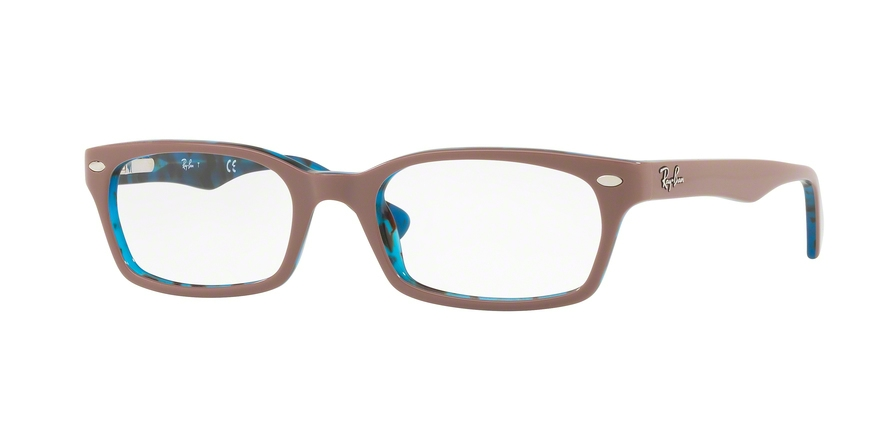 Ray-Ban Model: RX 5150, Colour Code: 5715, Frame Colour: Top Light Brown on Havana Blue