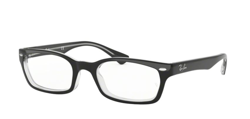 Ray-Ban Model: RX 5150, Colour Code: 2034, Frame Colour: TOP BLACK ON TRANSPARENT