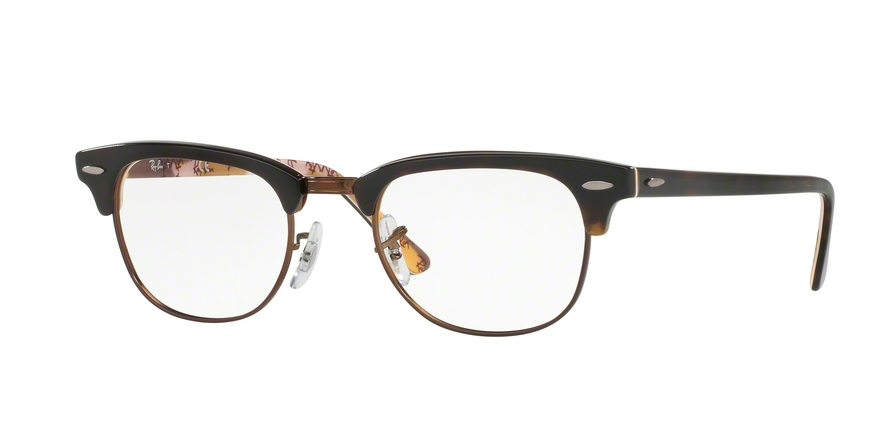 Ray-Ban Model: RX 5154 CLUBMASTER, Colour Code: 5650, Frame Colour: Havana on texture camouflage