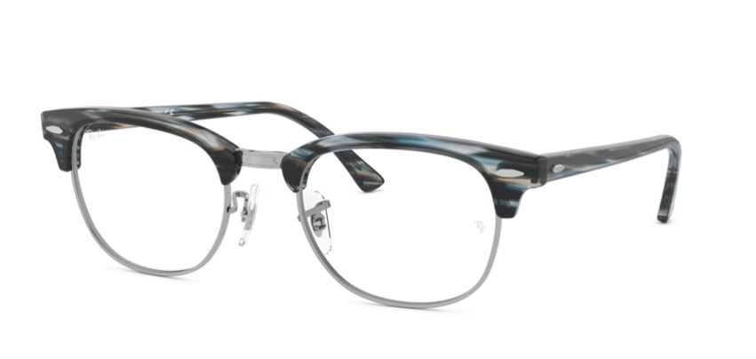 Ray-Ban Model: RX 5154 CLUBMASTER, Colour Code: 5750, Frame Colour: GREY BLUE STRIPED