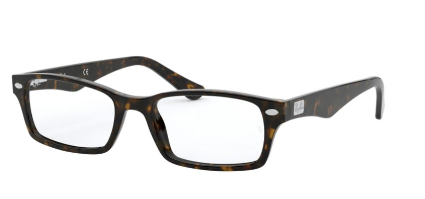 Ray-Ban Model: RX 5206, Colour Code: 2012, Frame Colour: DARK HAVANA