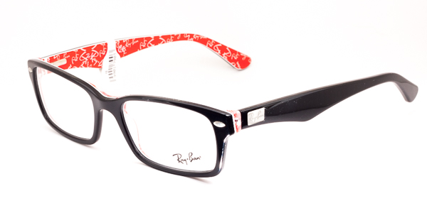 Ray-Ban Model: RX 5206, Colour Code: 2479, Frame Colour: BLACK ON RED TEXTURE
