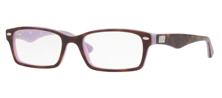 Ray-Ban Model: RX 5206, Colour Code: 5240, Frame Colour: TOP HAVANA ON VIOLET