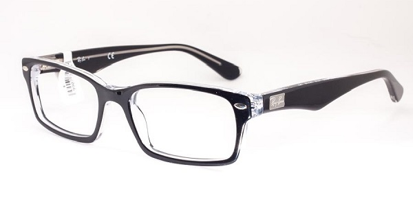 Ray-Ban Model: RX 5206, Colour Code: 2034, Frame Colour: TOP BLACK ON TRANSPARENT