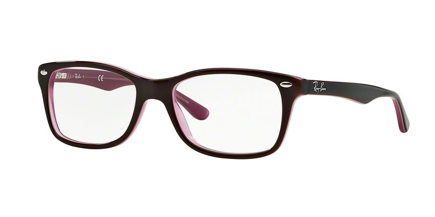 Ray-Ban Model: RX 5228, Colour Code: 2126, Frame Colour: BROWN /PINK