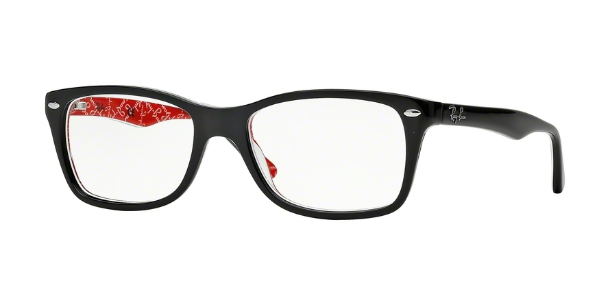 Ray-Ban Model: RX 5228, Colour Code: 2479, Frame Colour: TOP BLACK ON TEXT RED