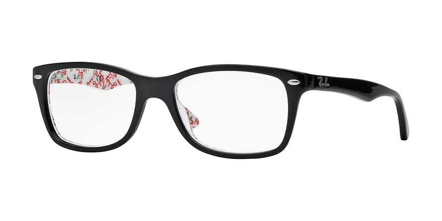 Ray-Ban Model: RX 5228, Colour Code: 5014, Frame Colour: TOP BLACK ON TEXT WHITE