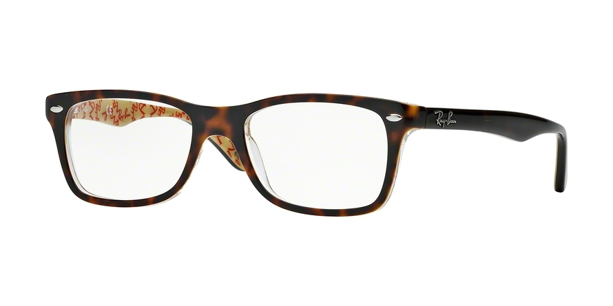 Ray-Ban Model: RX 5228, Colour Code: 5057, Frame Colour: TOP DARK HAVANA