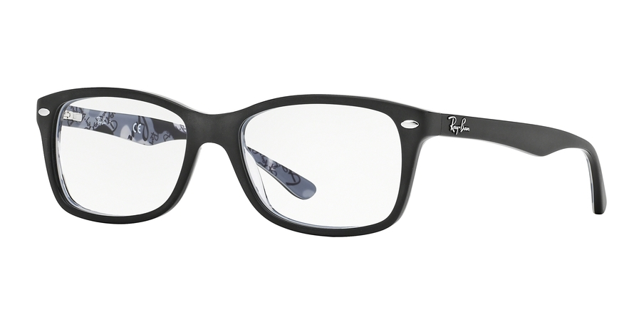 Ray-Ban Model: RX 5228, Colour Code: 5405, Frame Colour: TOP MATTE BLACK ON CAMUFLAGE