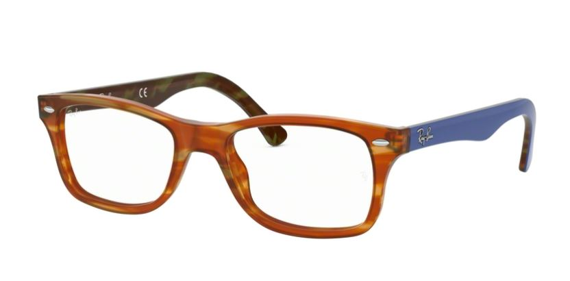 Ray-Ban Model: RX 5228, Colour Code: 5799, Frame Colour: LIGHT BROWN HAVANA