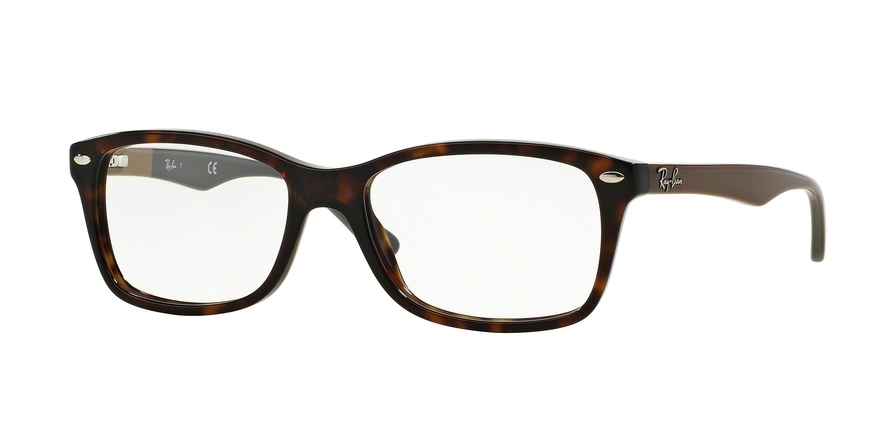 Ray-Ban Model: RX 5228, Colour Code: 5545, Frame Colour: HAVANA