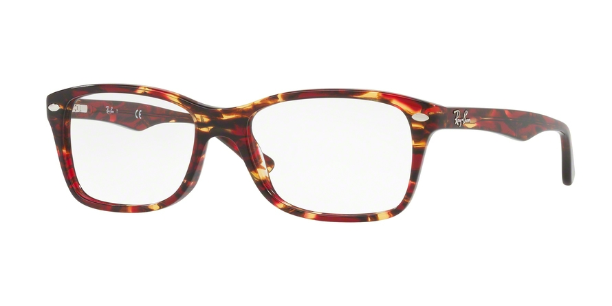 Ray-Ban Model: RX 5228, Colour Code: 5710, Frame Colour: Spotted red/brown yellow