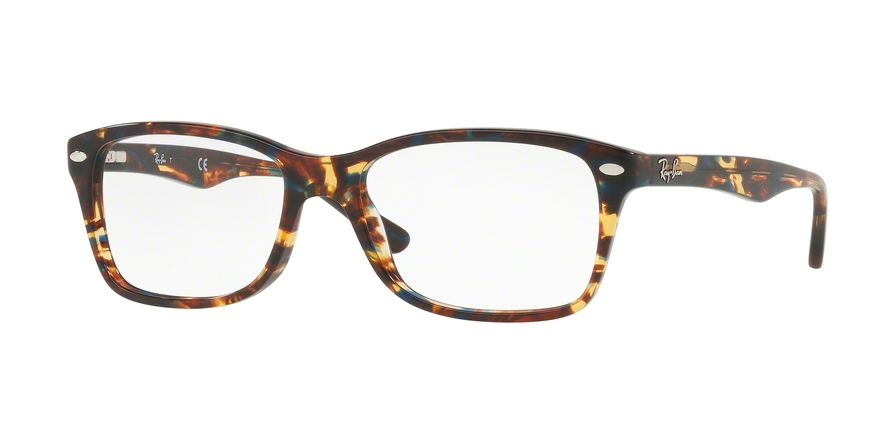 Ray-Ban Model: RX 5228, Colour Code: 5711, Frame Colour: Spotted blue/brown/yellow