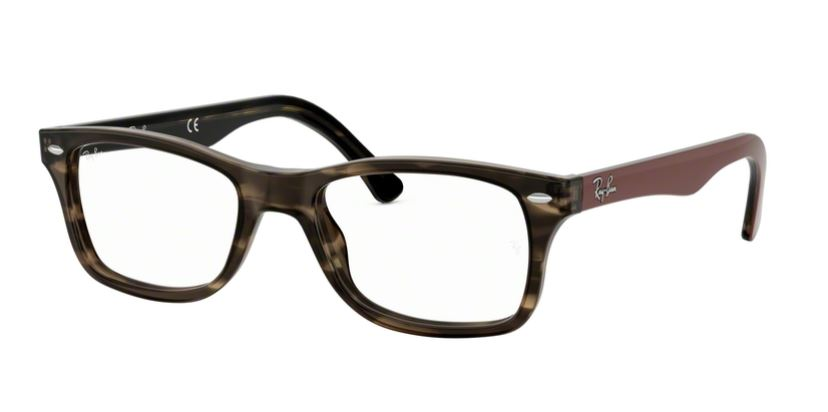 Ray-Ban Model: RX 5228, Colour Code: 5798, Frame Colour: HAVANA GREEN