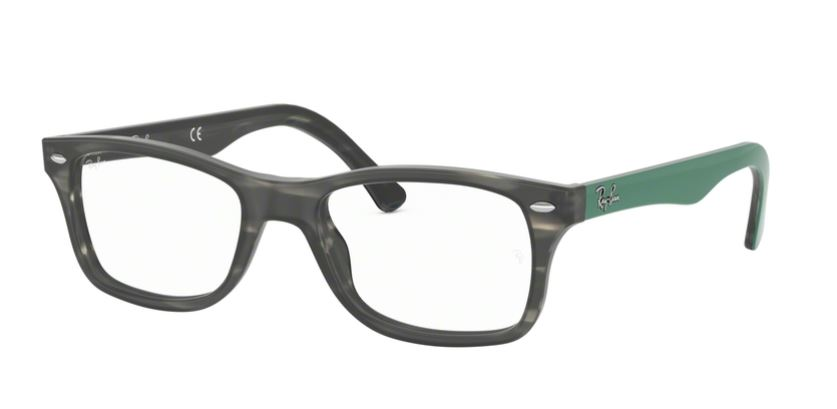 Ray-Ban Model: RX 5228, Colour Code: 5800, Frame Colour: GREY GREEN HAVANA