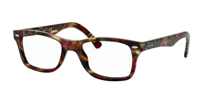 Ray-Ban Model: RX 5228, Colour Code: 5710, Frame Colour: SPOTTED RED BROWN YELLOW