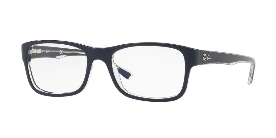 Ray-Ban Model: RX 5268, Colour Code: 5739, Frame Colour: Top blue on transparent