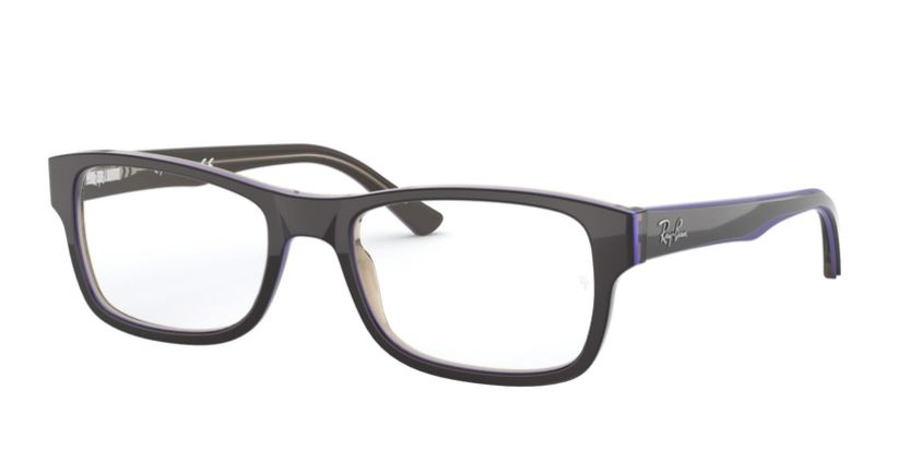 Ray-Ban Model: RX 5268, Colour Code: 5816, Frame Colour: TRANSPARENT BROWN ON VIOLET
