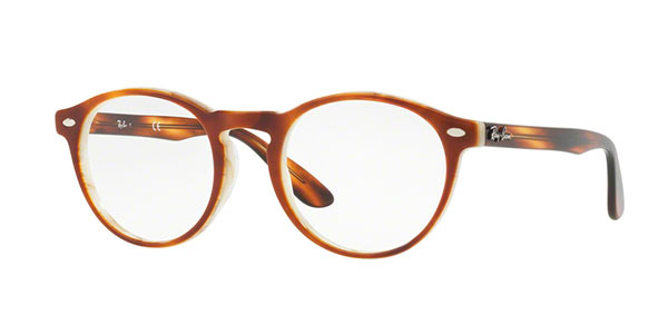 Ray-Ban Model: RX 5283, Colour Code: 5677, Frame Colour: Havana Brown Horn