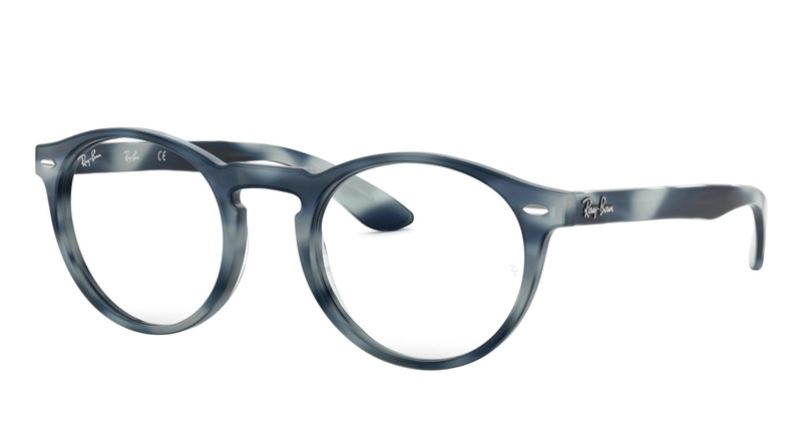 Ray-Ban Model: RX 5283, Colour Code: 5773, Frame Colour: HORN GREY BLUE