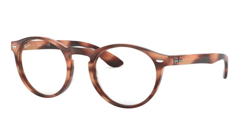 Ray-Ban Model: RX 5283, Colour Code: 5774, Frame Colour: HORN PINK BROWN