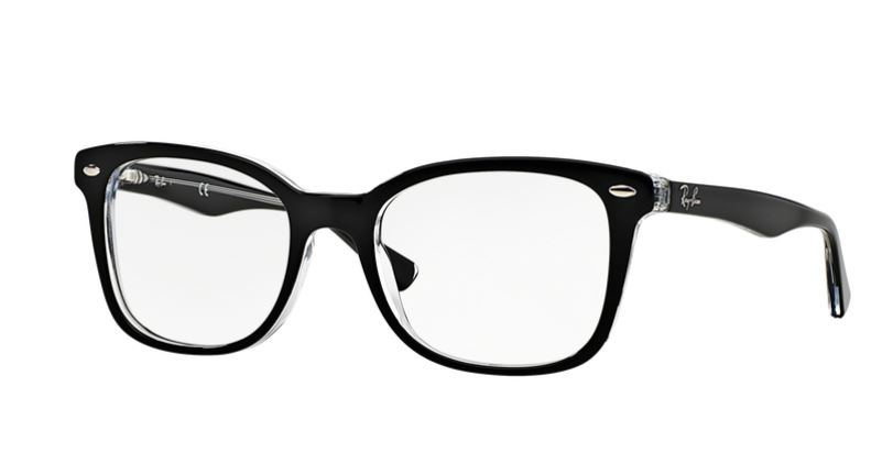 Ray-Ban Model: RX 5285, Colour Code: 2034, Frame Colour: Top black on transparent