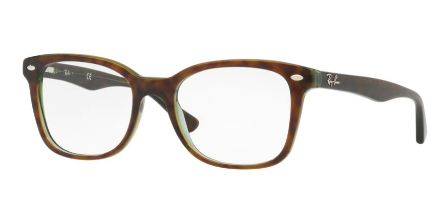 Ray-Ban Model: RX 5285, Colour Code: 2383, Frame Colour: TOP HAVANA ON GREEN