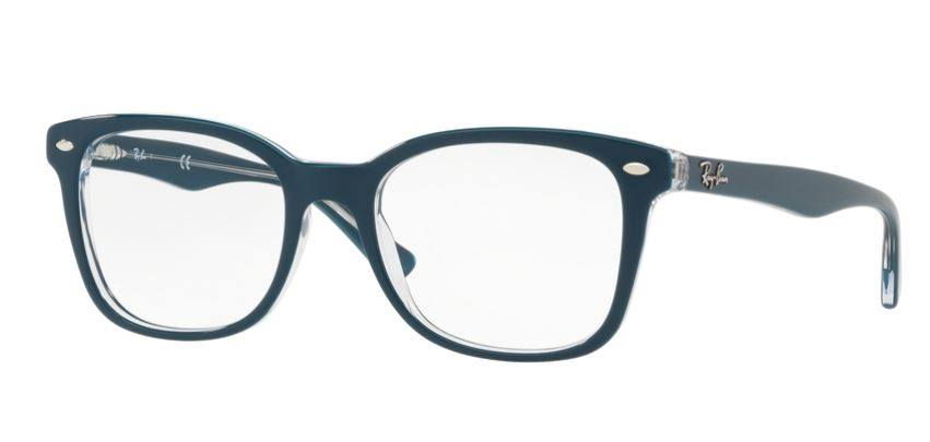 Ray-Ban Model: RX 5285, Colour Code: 5763, Frame Colour: TOP TURQUOISE ON TRANSPARENT