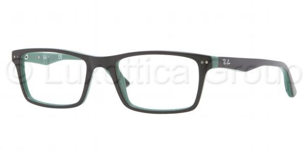 Ray-Ban Model: RX 5288, Colour Code: 5138, Frame Colour: BLACK ON GREEN