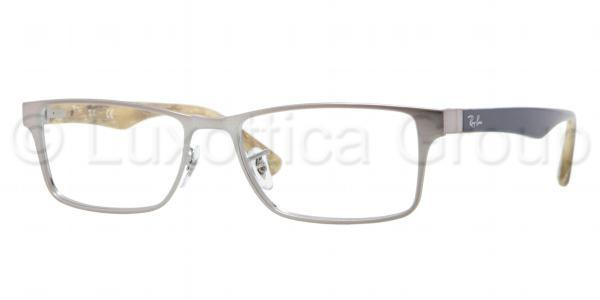 Ray-Ban Model: RX 6238, Colour Code: 2553, Frame Colour: BRUSHED GUNMETAL