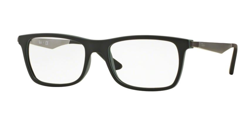 Ray-Ban Model: RX 7062, Colour Code: 5197, Frame Colour: BLACK ON GREEN