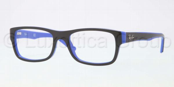 Ray-Ban Model: RX 5268, Colour Code: 5179, Frame Colour: BLACK ON BLUE