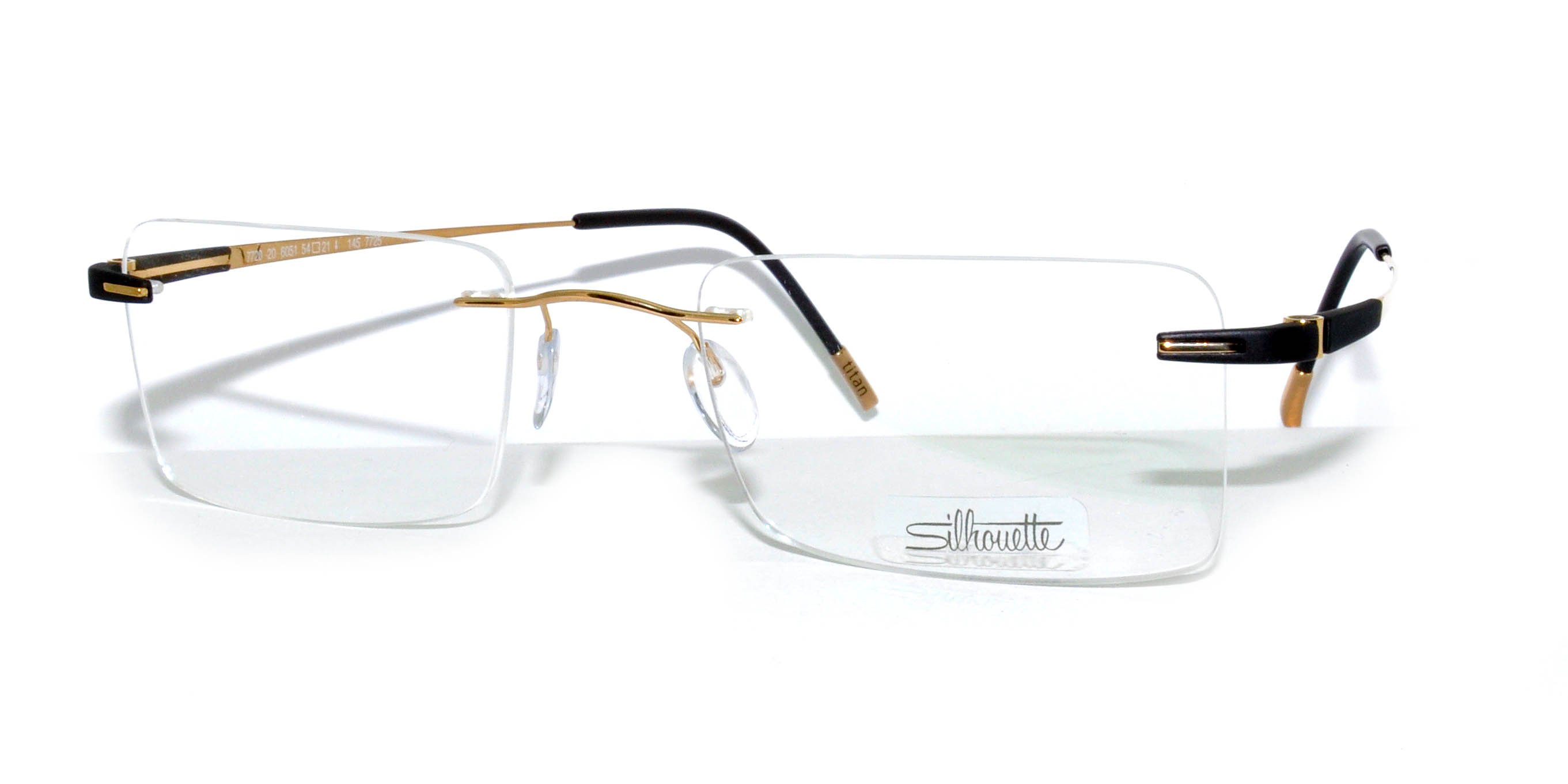 silhouette model luxury 7720 colour code 6051 frame colour gold chocolate