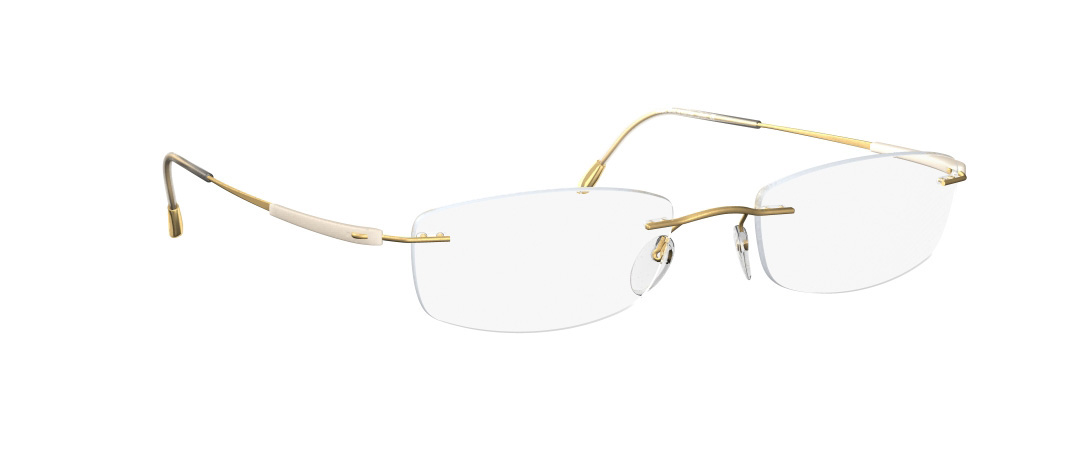 Silhouette Model: Titan Dynamics 5213, Colour Code: 6053, Frame Colour: Gold/Ivory