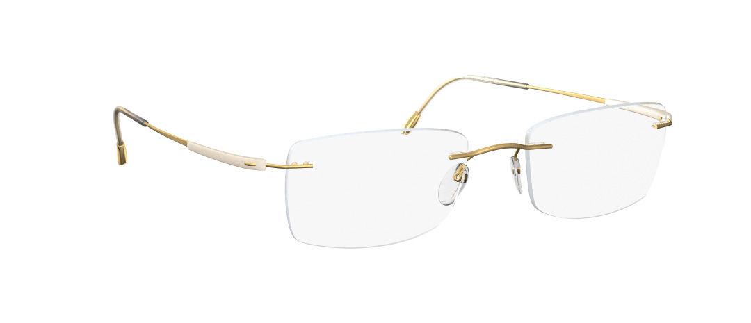 Silhouette Model: Titan Dynamics 5214, Colour Code: 6053, Frame Colour: Gold/Ivory
