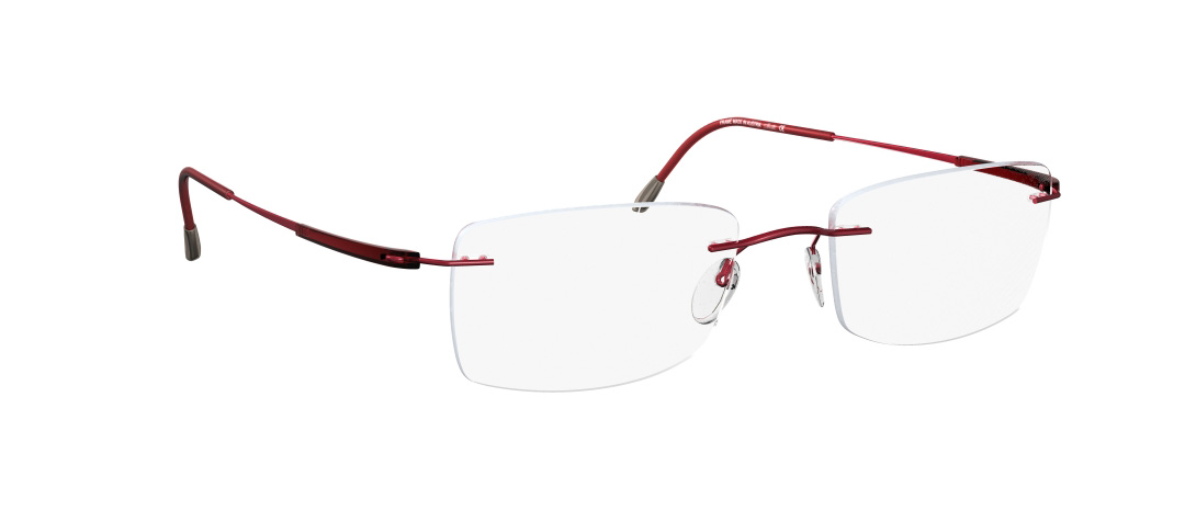 Silhouette Model: Titan Dynamics 5214, Colour Code: 6057, Frame Colour: Red