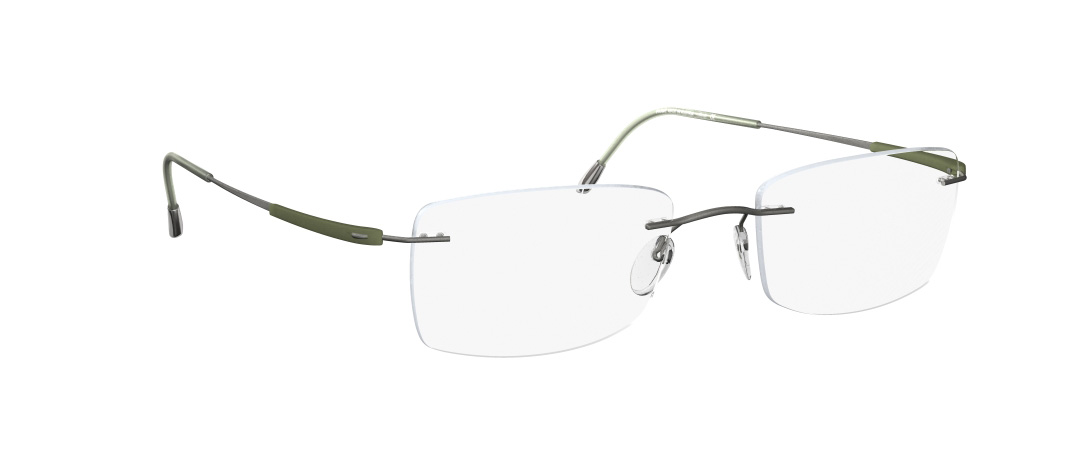 Silhouette Model: Titan Dynamics 5214, Colour Code: 6061, Frame Colour: Olive