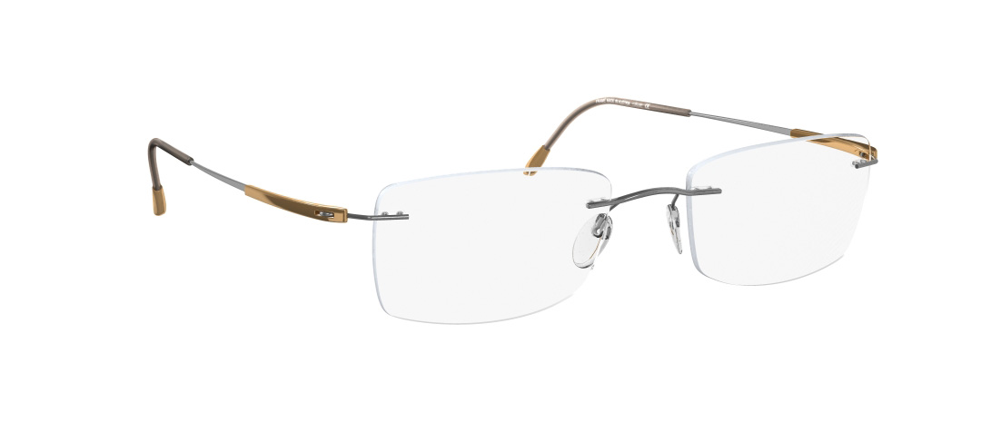 Silhouette Model: Titan Dynamics 5214, Colour Code: 6075, Frame Colour: Gold/grey/brown