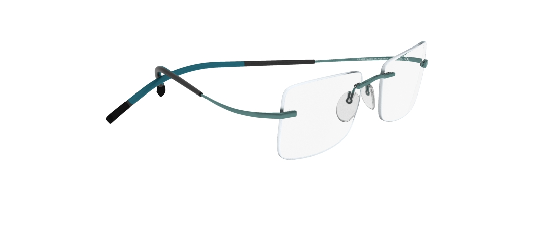 Silhouette Model: TMA Icon 7579, Colour Code: 6075, Frame Colour: Teal