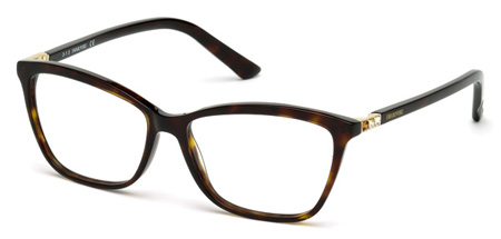 Swarovski Model: SK 5137V FAMOUS, Colour Code: 052, Frame Colour: Dark havana