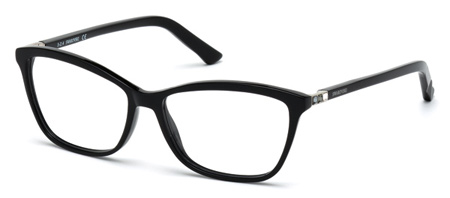 Swarovski Model: SK 5137V FAMOUS, Colour Code: 001, Frame Colour: Shiny black