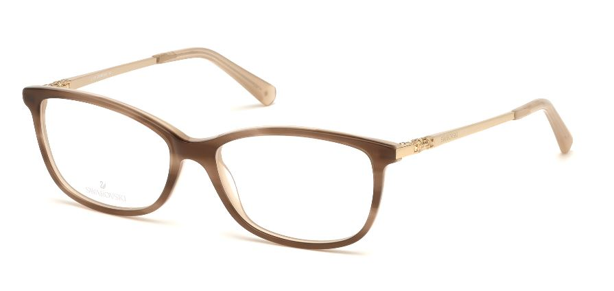 Swarovski Model: SK 5285, Colour Code: 047, Frame Colour: LIGHT BROWN