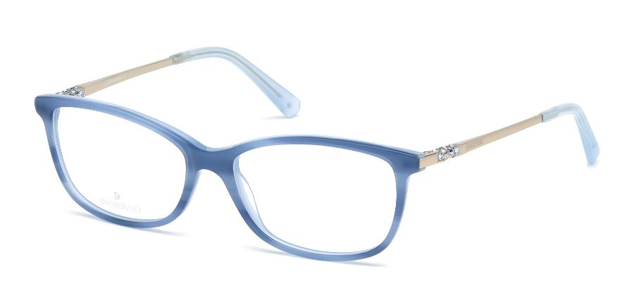 Swarovski Model: SK 5285, Colour Code: 086, Frame Colour: LIGHT BLUE