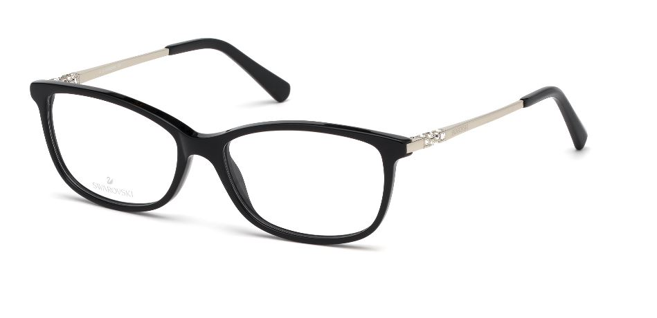 Swarovski Model: SK 5285, Colour Code: 001, Frame Colour: SHINY BLACK