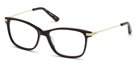 Swarovski Model: SW 5180 GLENDA, Colour Code: 048, Frame Colour: Shiny dark brown